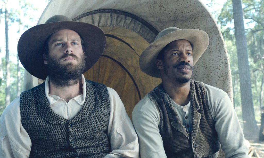 "Armie Hammer as ""Samuel Turner"" Nate Parker as ""Nat Turner"" in THE BIRTH OF A NATION. Photo courtesy of Fox Searchlight Pictures. © 2016 Twentieth Century Fox Film Corporation All Rights Reserved"