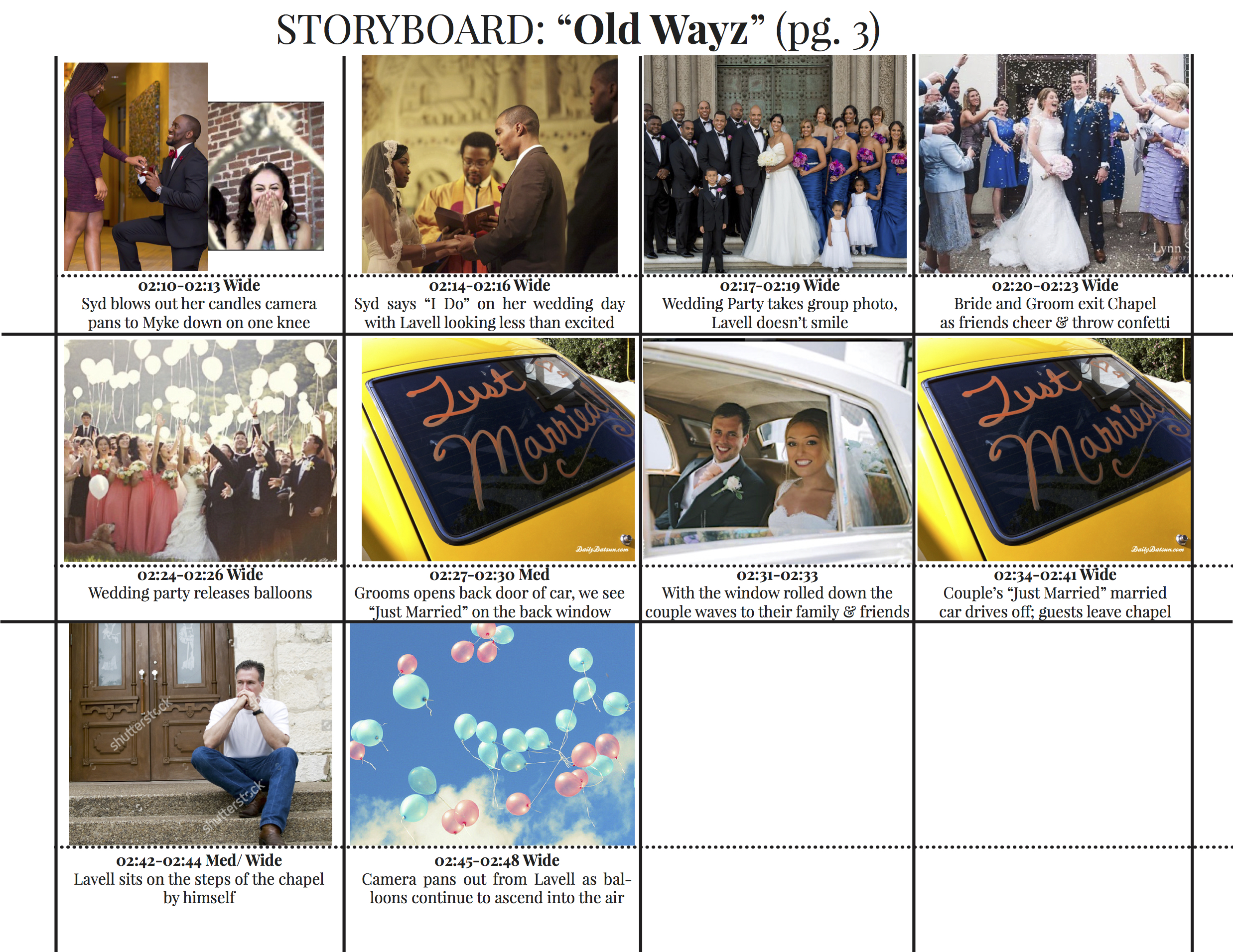 Old Wayz MUSIC VIDEO Storyboard3